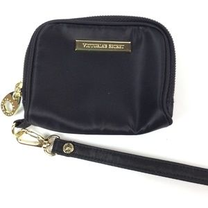 Victoria's  Secret black zip  wristlet